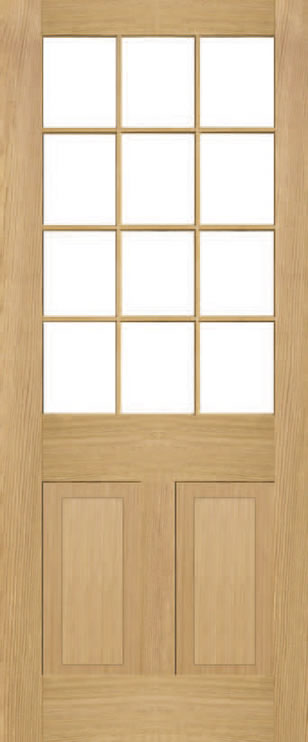 Brookby 2 Panel 12 Light Door