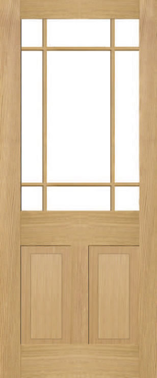 Brookby 2 Panel 9 Light Door
